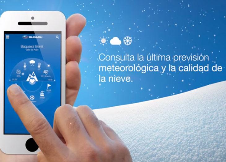 La app de Subaru para los amantes del esquí