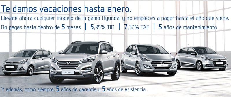 Estrena Hyundai y no pagues hasta 2017
