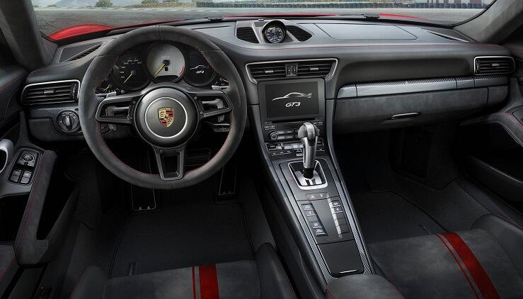 Porsche 911 Carrera GT3 interior 2017