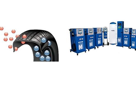 Oferta inflado de neumáticos con nitrogeno