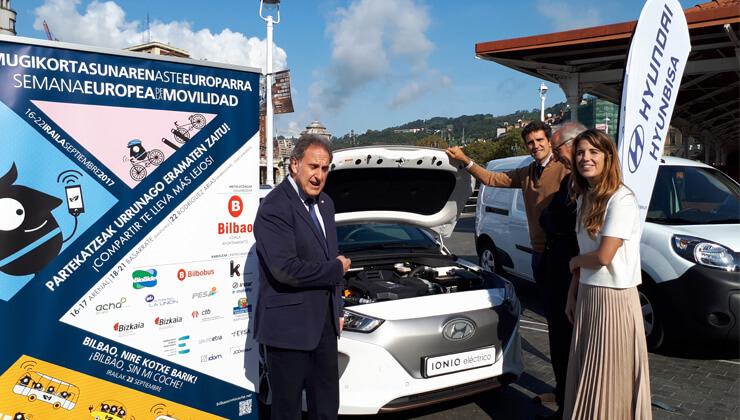 Promocion campaña vehiculos electricos bilbao