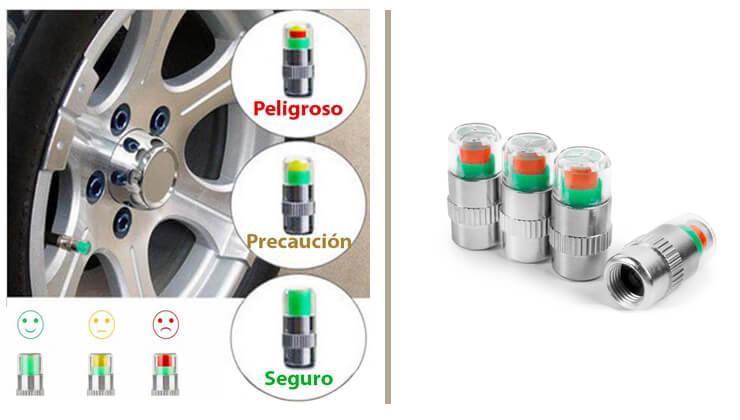 Tapones alerta válvula indicador de presión de rueda para coche
