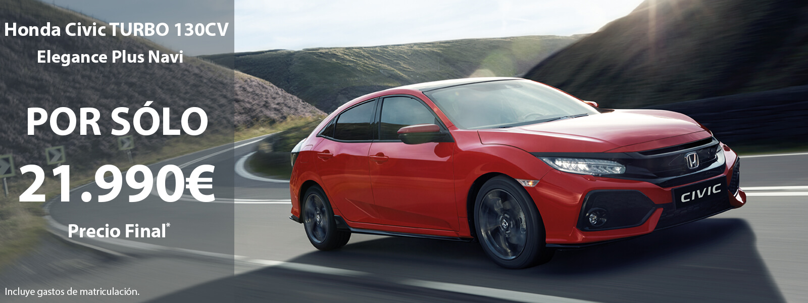 Oferta Honda CIVIC Turbo Nuevo - 21.990€