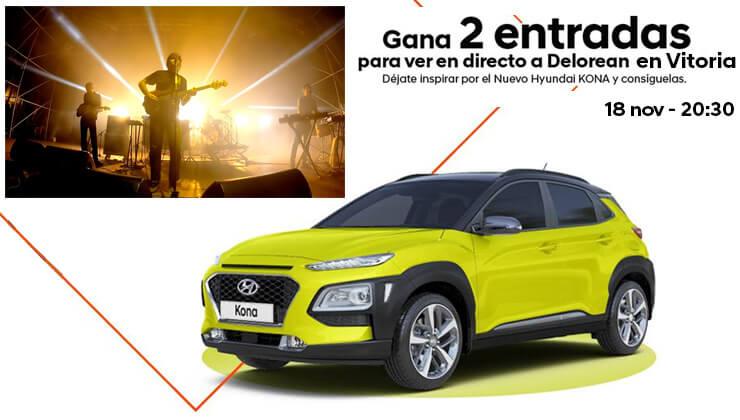 Sorteo invitaciones presentación Hyundai Kona con Delorean
