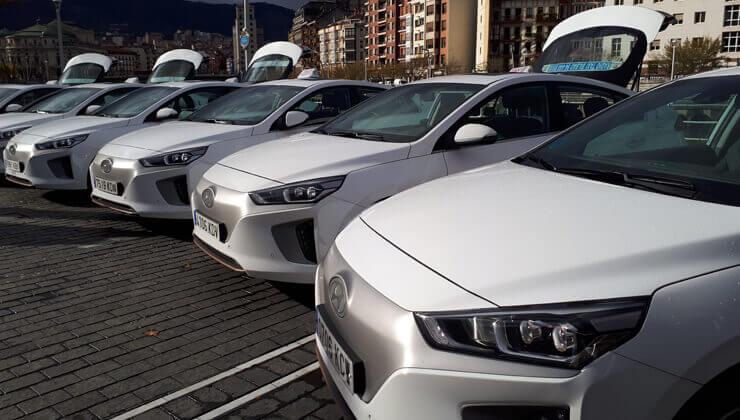 Hyundai Ioniq electrico taxis Bilbao