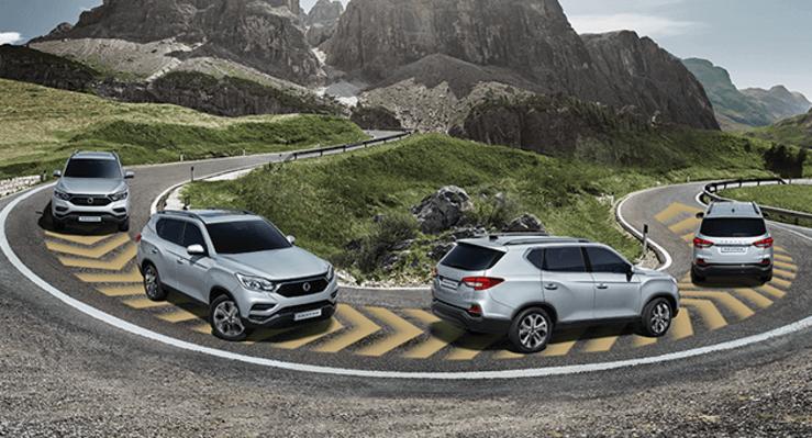 Nuevo SsangYong Rexton 2018 sistemas de seguridad en carretera