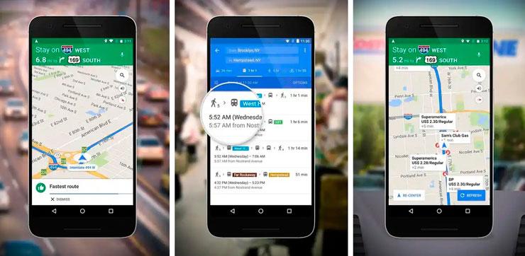 Aplicaiones para el coche Google Maps