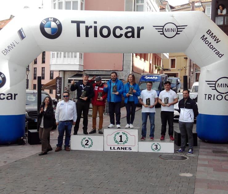 Primer Puesto Txema Foronda Antiza y Pilar Rodas Andújar Hyundai Ioniq Hibrido Enchufable en el Eco Rallye Llanes 2018