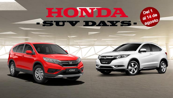 Oferta Honda SUV Days Bizkaia Julio 2018
