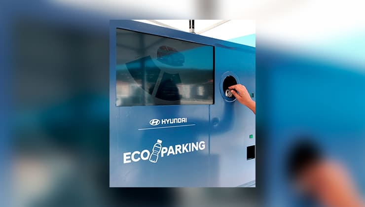 Hyundai hace que reciclar y aparcar vayan de la mano