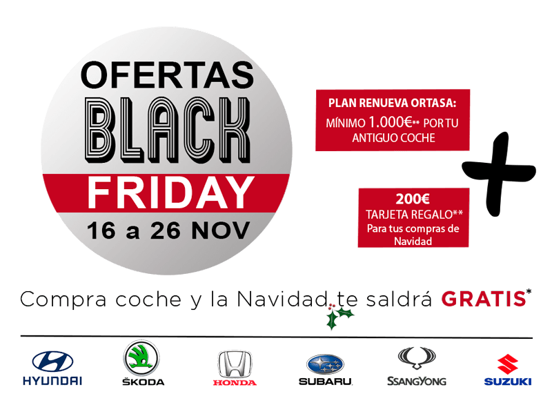 Ofertas Black Friday Comprar Coche 2018