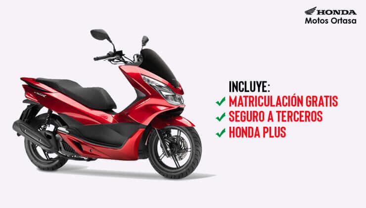 Oferta Honda PCX 125 con matriculación GRATIS*, Honda Plus y Seguro a terceros incluidos