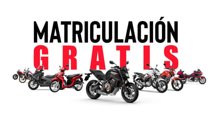 Oferta Matriculación Gratis Motos Honda Bizkaia