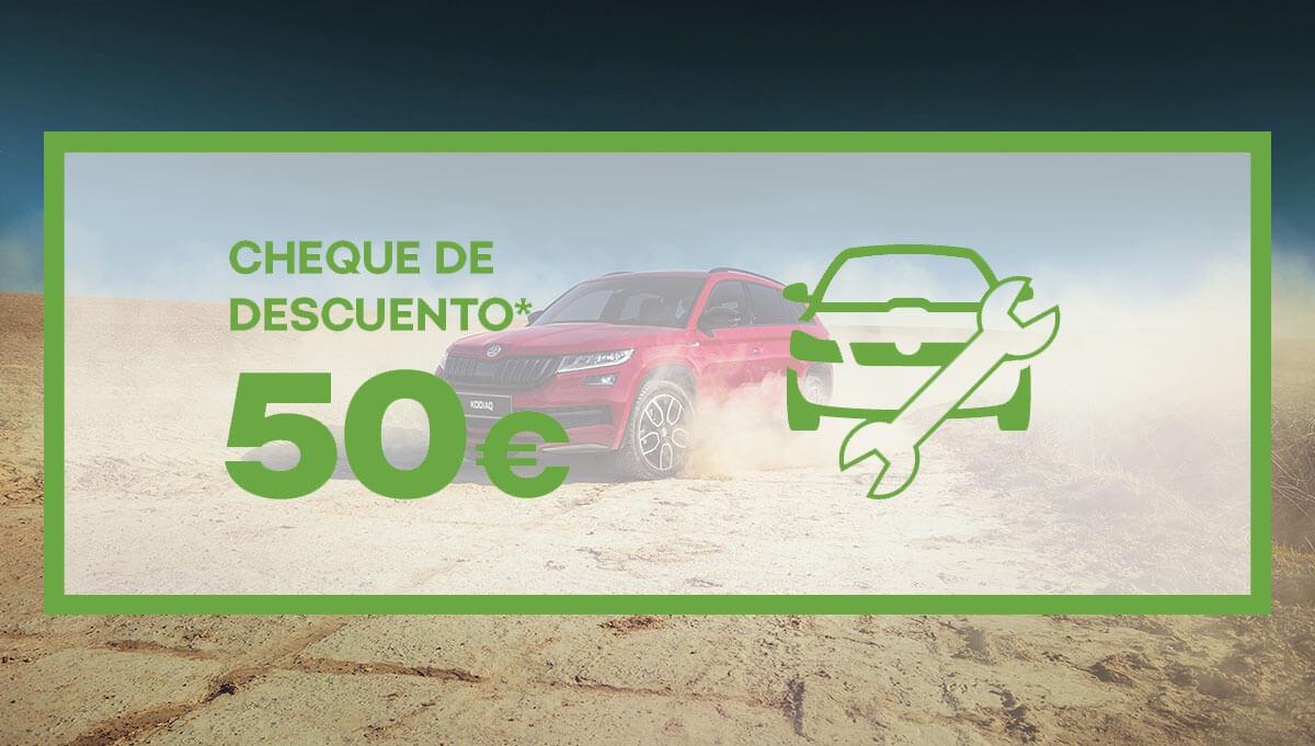 Ven al Servicio Postventa Škoda y consigue un cheque de 50€