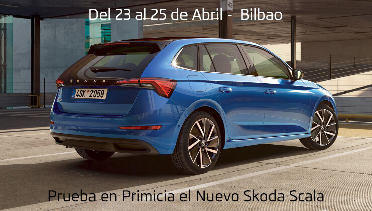 Skoda Nuevo Scala Bilbao Ruta | 23, 24, 25 Abril