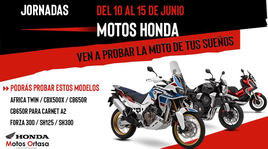 Jornadas de pruebas Motos Honda Bilbao