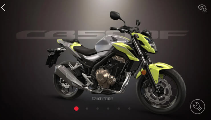 APP Honda Motos Motocycles Experience