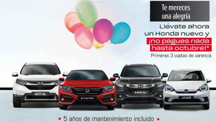 Oferta Honda No pagues hasta Octubre 2020