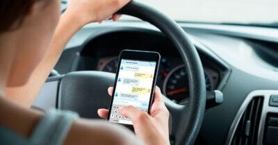 uso de móviles en la conducción